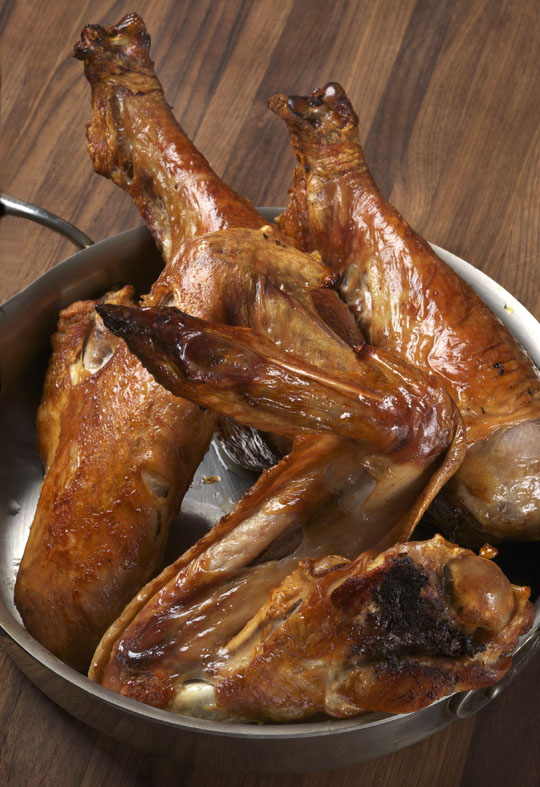 Turkey bones for stock and gravy