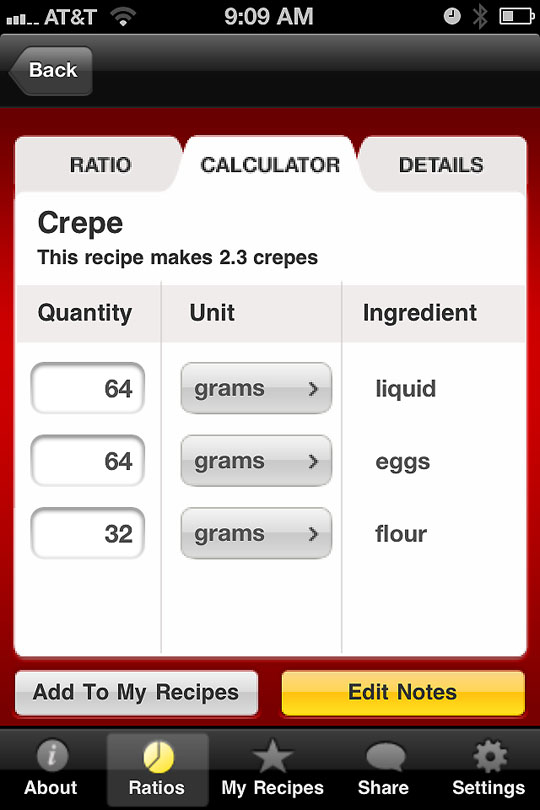 My jumbo egg weighed 64 grams, so I typed this in and the calculator gave me the rest